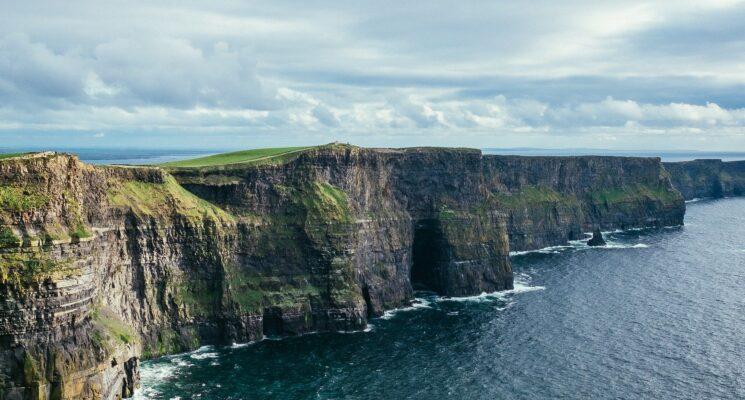 seaside cliff in ireland