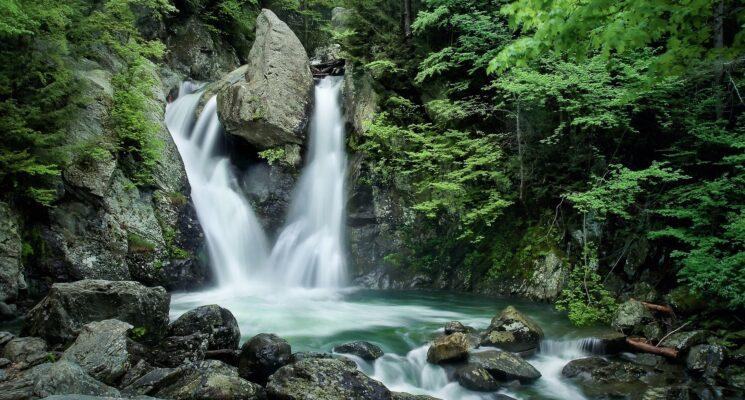 a small water fall - Bash Bish Falls