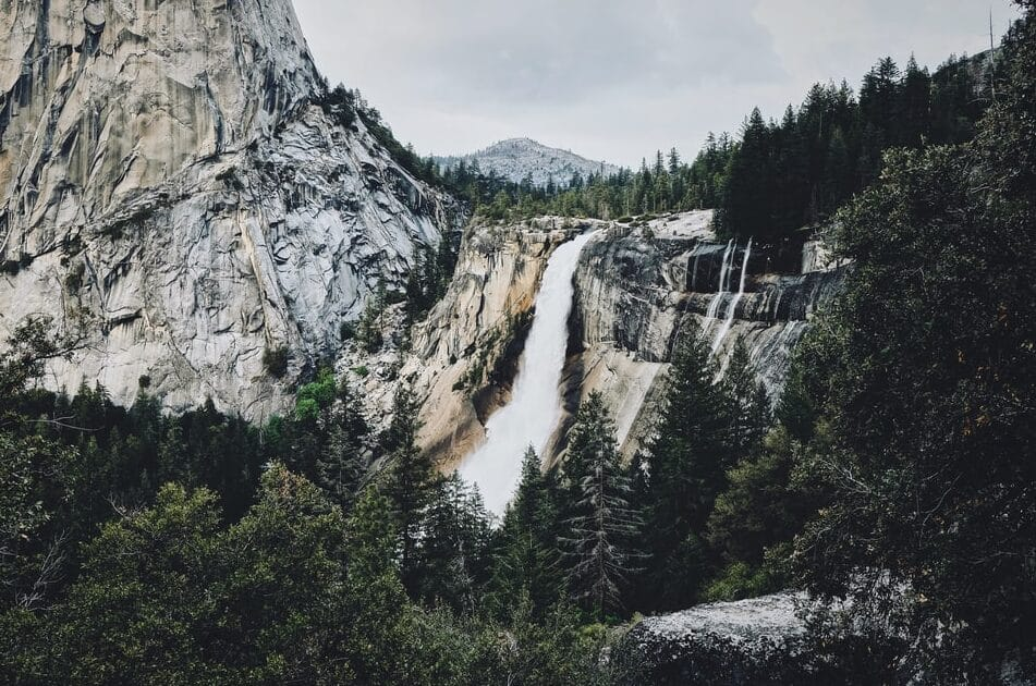 a water fall in Yosemite Park