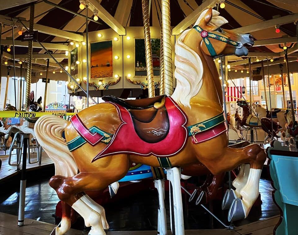 horse on a merry go round